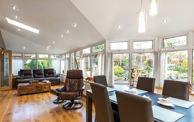 Warm roof conservatory in Stoke