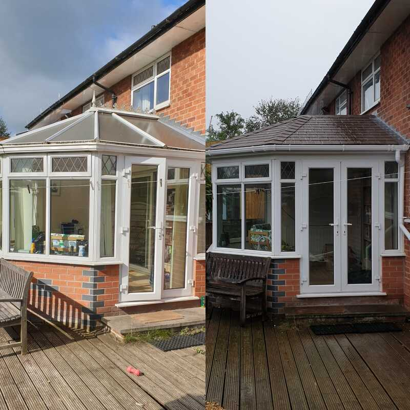 tiled conservatory roof upgrade in Stoke
